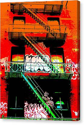 Manhattan Fire Escape Canvas Print by Funkpix Photo Hunter