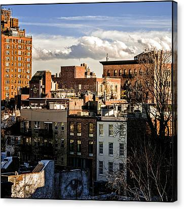 Manhattan From The Whitney Canvas Print by Frank Winters
