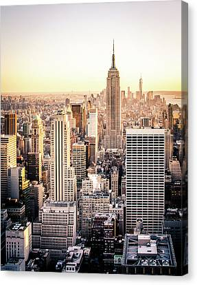 Manhattan Canvas Print by Michael Weber