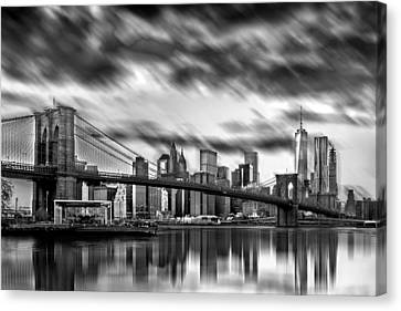 Manhattan Moods Canvas Print by Az Jackson