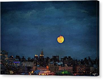 Manhattan Moonrise Canvas Print by Chris Lord