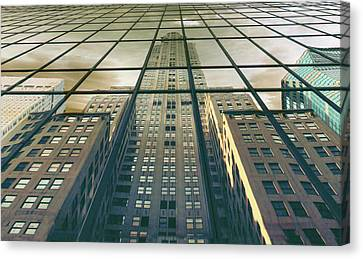 City Streets Canvas Print - Manhattan Reflected by Jessica Jenney