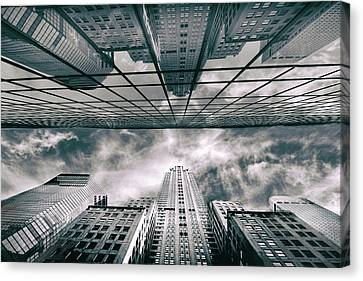 City Streets Canvas Print - Manhattan Reflections by Jessica Jenney