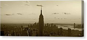 Manhattan Sky View Canvas Print by Terry Cork