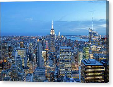 Manhattan Skyline New York City Canvas Print by Az Jackson