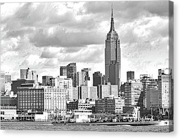 Manhattan Skyline No. 7-2 Canvas Print