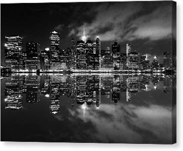 Newyorkcity Canvas Print - Manhattan Skyline - Reflections 1 by Charles Chin
