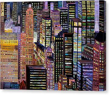 Manhattan View Canvas Print by Barbara Porto
