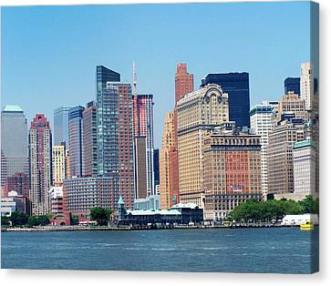 Manhatten Canvas Print by Vijay Sharon Govender