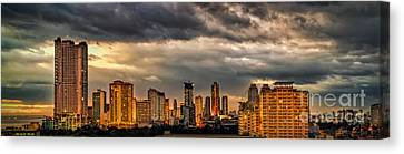Manila Cityscape Canvas Print by Adrian Evans