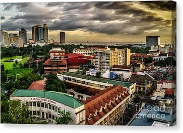 Manila High School Canvas Print by Adrian Evans