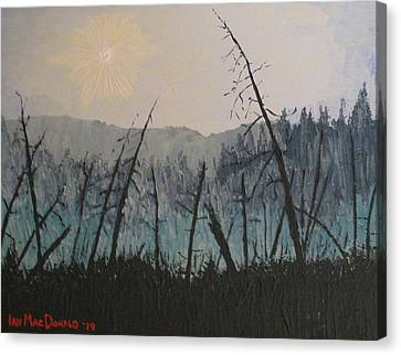 Canvas Print featuring the painting Manitoulin Beaver Meadow by Ian  MacDonald
