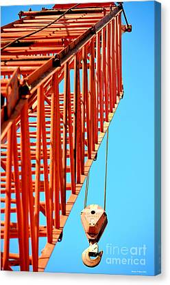 Manitowoc Red Boom Block And Hook Canvas Print by Maria Urso