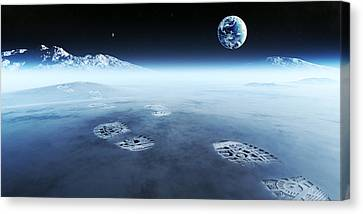 Mankind Exploring Space Canvas Print by Johan Swanepoel