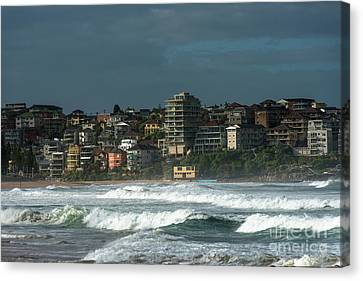 Manley Canvas Print - Manly Beach On A Stormy Day by Andrew Michael
