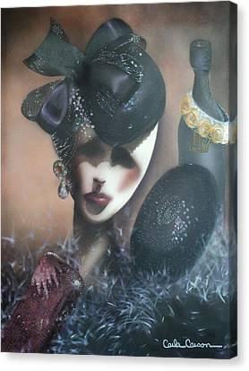 Mannequin Glitz N Glamour Canvas Print by Carla Carson