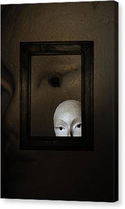 Mannequins Face Canvas Print by Anki Hoglund