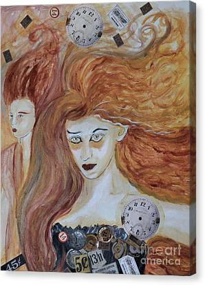 Eerie Canvas Print - Mannequins In A Haunted Shop by Sandy DeLuca