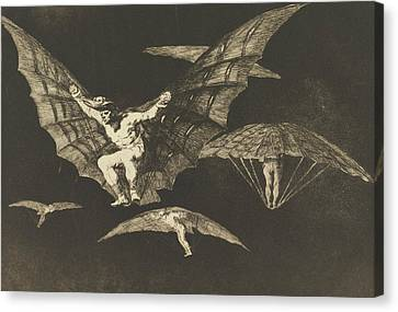 Manner Of Flying Canvas Print by Francisco Goya
