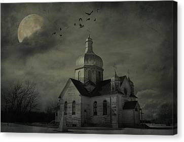 Mannerisms Of Midnight  Canvas Print by Jerry Cordeiro