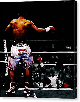 Manny Pacquiao And Erik Morales Canvas Print by Brian Reaves
