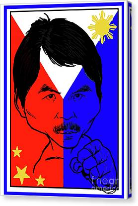Manny Pacquiao Iron Fist Canvas Print by Stanley Slaughter Jr