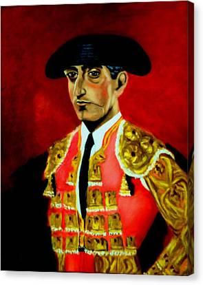 Manolete  Canvas Print by Manuel Sanchez