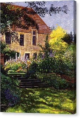 Manor House Steps Canvas Print by David Lloyd Glover