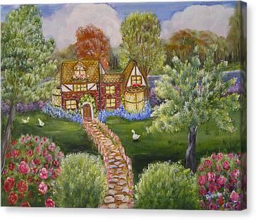 Manor Of Yore Canvas Print by Quwatha Valentine