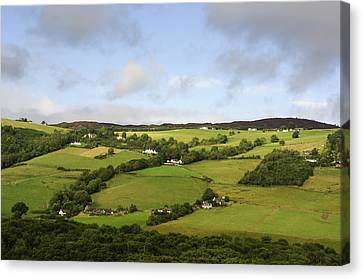 Canvas Print featuring the photograph Manors On A Hillside by Christi Kraft