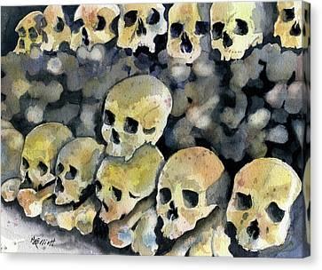 Mans Inhumanity To Man Canvas Print by Marsha Elliott