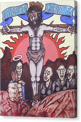 Manson Christ Canvas Print