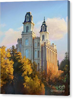Manti Temple Tall Canvas Print