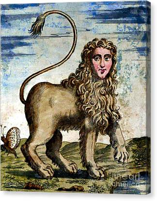 Folkloric Canvas Print - Manticore by Photo Researchers