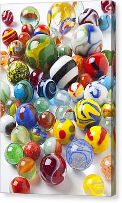 Many Beautiful Marbles Canvas Print by Garry Gay