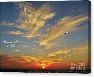 Many Colored Sunset Canvas Print by John Groeneveld