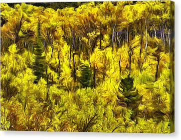 Flora Canvas Print - Many Glacier Abstract by Mark Kiver