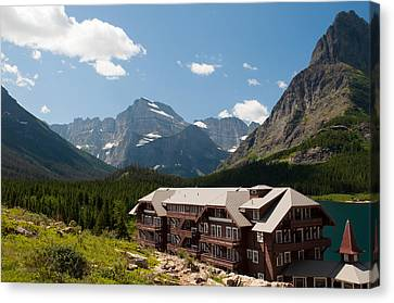 Many Glacier Hotel Canvas Print by Bruce Gourley