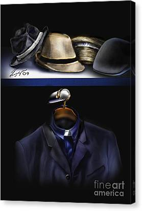 Many Hats One Collar Canvas Print by Reggie Duffie
