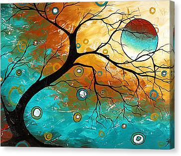 Upbeat Canvas Print - Many Moons Ago By Madart by Megan Duncanson