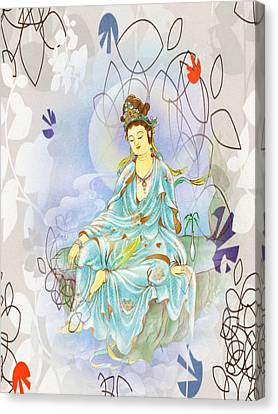 Many Treasures Kuan Yin Canvas Print