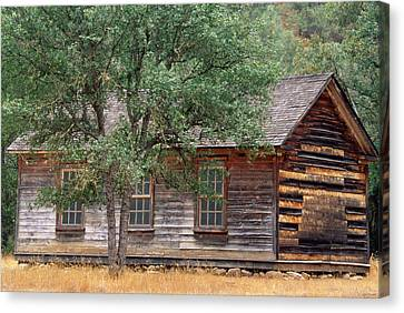 Manzana Schoolhouse - 1895 Canvas Print by Soli Deo Gloria Wilderness And Wildlife Photography