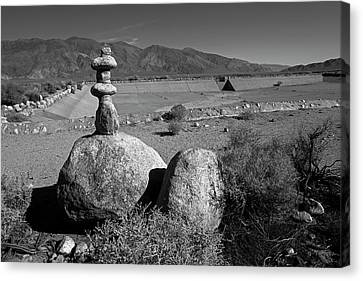 American Independance Canvas Print - Manzanar Reservoir Water Monument by Rick Pisio