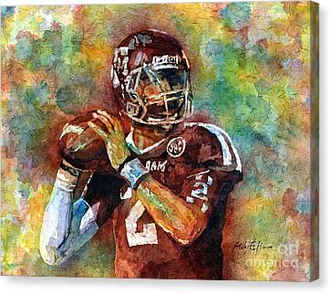 Manziel Canvas Print by Hailey E Herrera