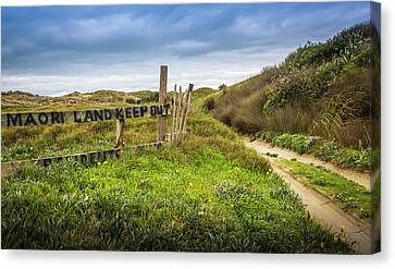 Maori Land - Keep Out Canvas Print by Michael Lees