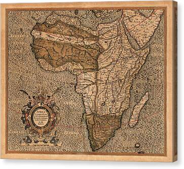 Map Of Africa 1607 Canvas Print by Andrew Fare