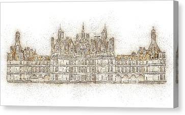 Map Of The Castle Chambord Canvas Print
