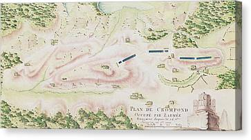 Map Of Crompond Ny Canvas Print by F Dubourg