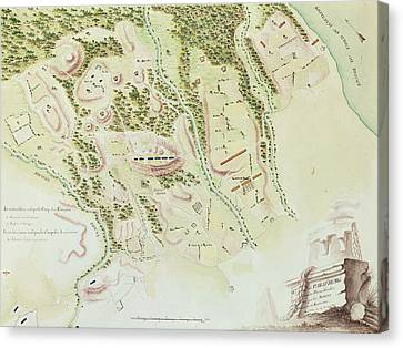 Map Of Phillipsburg Canvas Print by F Dubourg