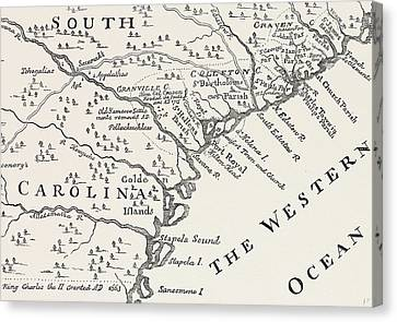 Map Of South Carolina Canvas Print